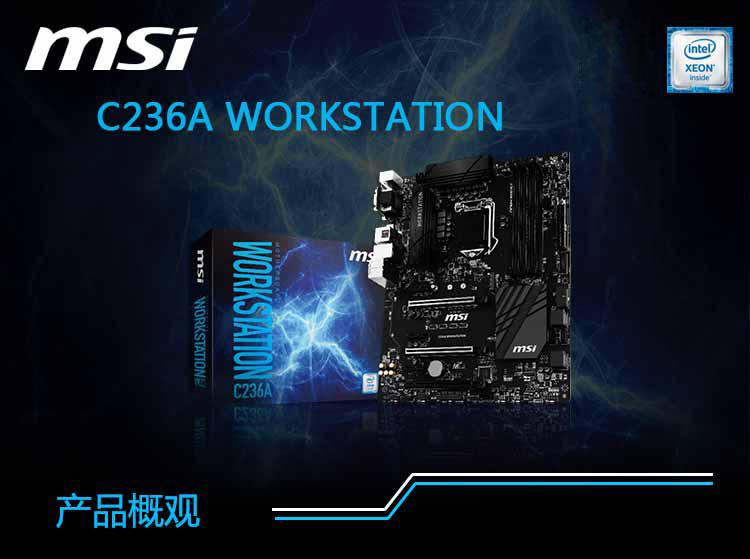 微星(MSI)C236A WORKSTATION